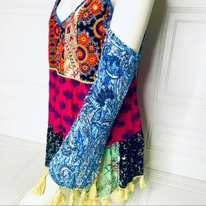 PRETTY LITTLE THING BOHEMIAN MULTICOLOUR TOP